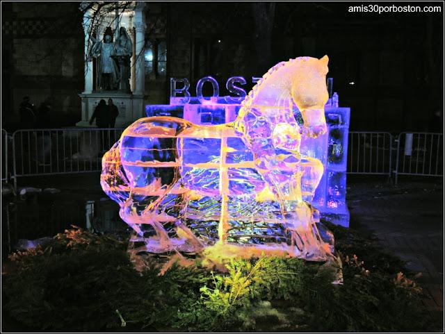 Esculturas de Hielo en Boston: Caballo