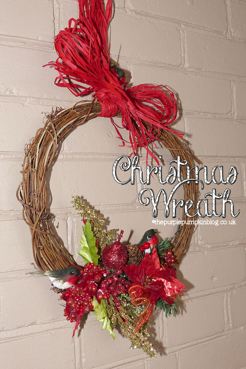 Rattan & Raffia #Christmas Wreath | The Purple Pumpkin Blog | #shop #cbias