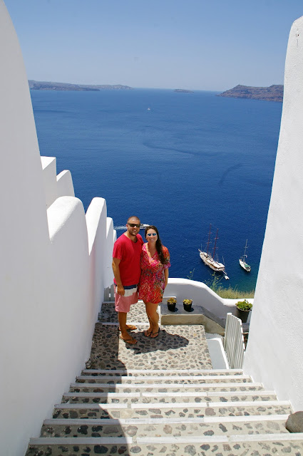 Couple in Oia Santorini