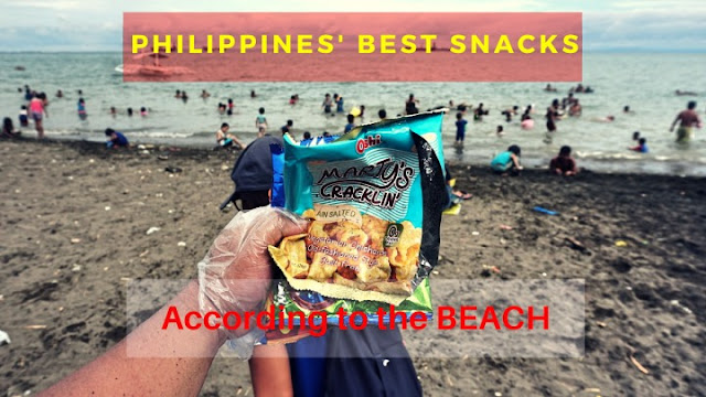 Filipino favorite snacks at Larawan Beach in Talisay City, Cebu