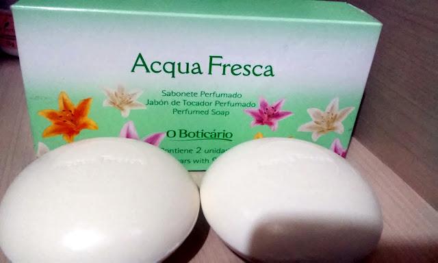 Achegue-se! Sabonete perfumado – Acqua Fresca – O Boticário