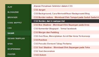 Sitemap Tabulasi: Daftar Isi Blog Keren Berdasarkan Label