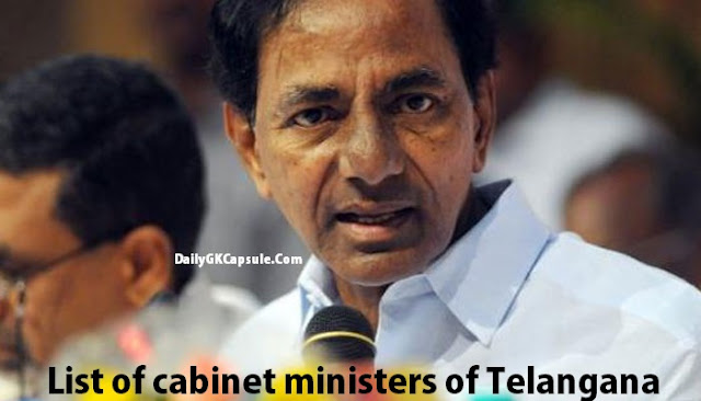 Telangana Cabinet Ministers List 2016 Pdf Download