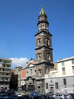 The Church of Santa Maria del Carmine watches over Piazza del Mercato