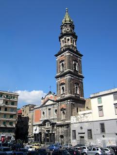 The Church of Santa Maria del Carmine watches over Piazza del Mercato