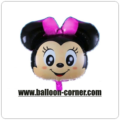 Balon Foil Karakter Kepala Minnie Mouse (NEW DESIGN)