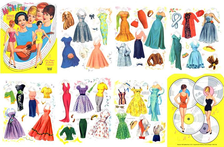 Favorito Bamboline di carta - Paper Dolls | IL RAMO D'ORO BX05