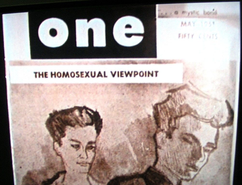Homophile magazine ONE May 1961 cover headline 'Homosexual Viewpoint'