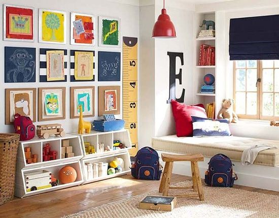 I Love The Ginormous Ruler And Primary Color Scheme Of This Room Plus Walls Are White As Our Which Would To Leave Because Painting