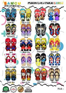 Jual Sandal Sancu, sandal Lucu, grosir sandal lucu sancu