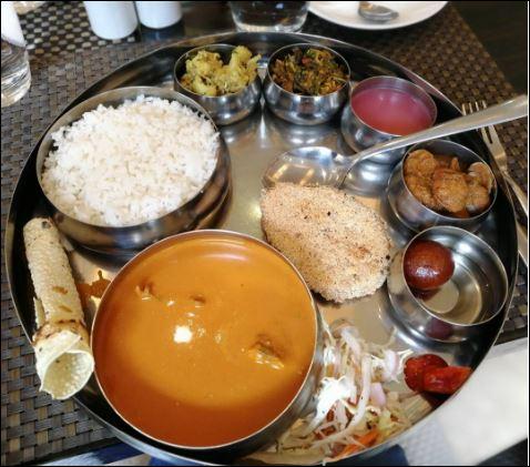 goan thali  famous indian food trickdump