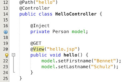 MVC 1 0 in Java EE 8 - How to work with Controllers - DZone Java