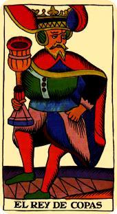 Tarot de Marsella: Rey de Copas
