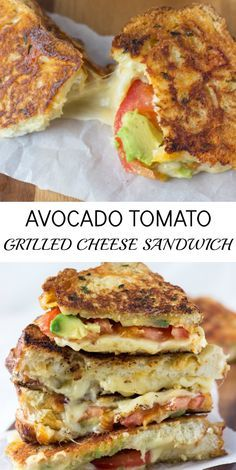 Avocado Tomato Grilled Cheese Sandwich
