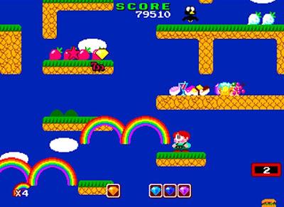 Rainbow Island: Rhe story the Bubble Bobble 2+arcade+game+portable+videojuego+descargar gratis