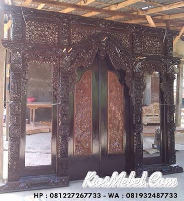 Pintu Gebyok Jati Ukir Jepara - Finishing