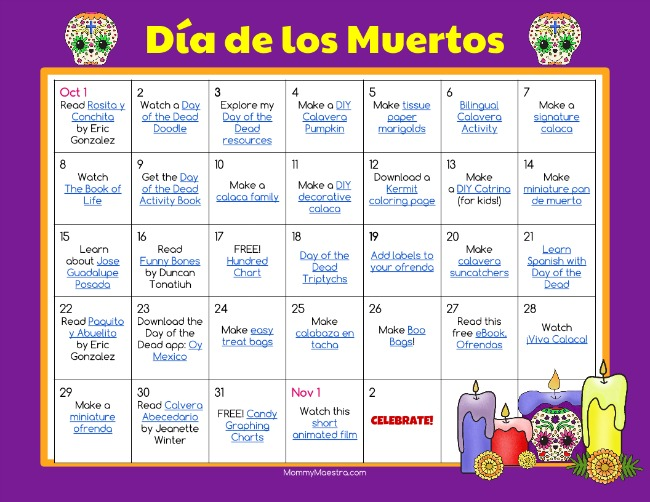 mommy maestra dia de los muertos day of the dead lesson plans   which describes dia de los muertos an accurate description of the altar and the ofrenda as well as the reason for them