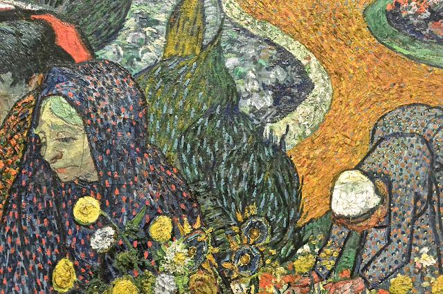 Saint Pétersbourg Van Gogh : Femmes d'Arles  dans l'Etat- Major  en face du Palais d'Hiver Ermitage 2