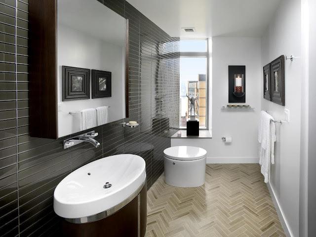 تصاميم حمامات باللون الاسود