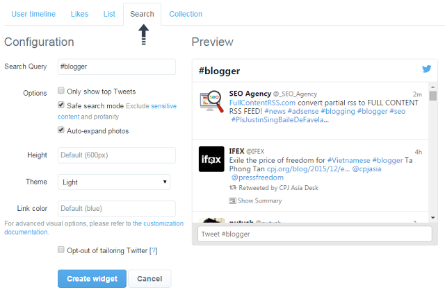 How To Add/Embed Twitter Timeline In Blogger Template | BloggersStand