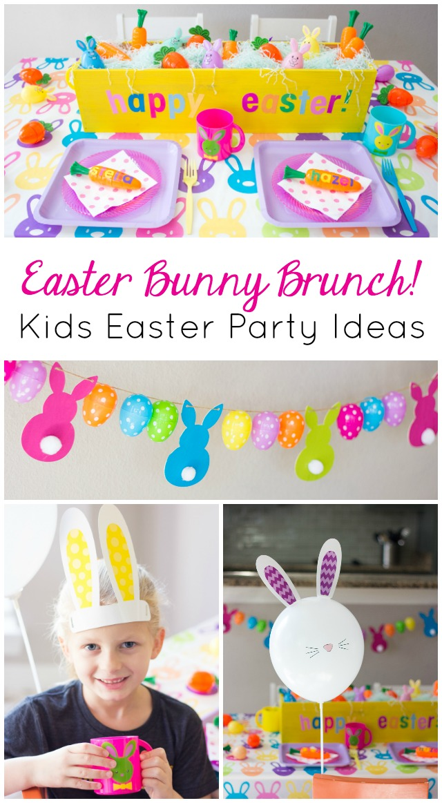 Host a kids easter bunny brunch design improvised Fun easter brunch ideas