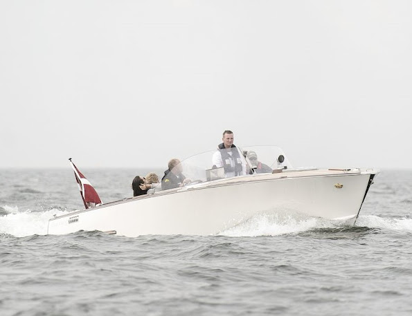 Crown Prince Frederik  and his son Prince Christian attended the Danish Open Dragon Sailing Championship. Crown Princess Mary and her children Princess Isabella, Prince Vincent and Princess Josephine visited the Dragor harbour