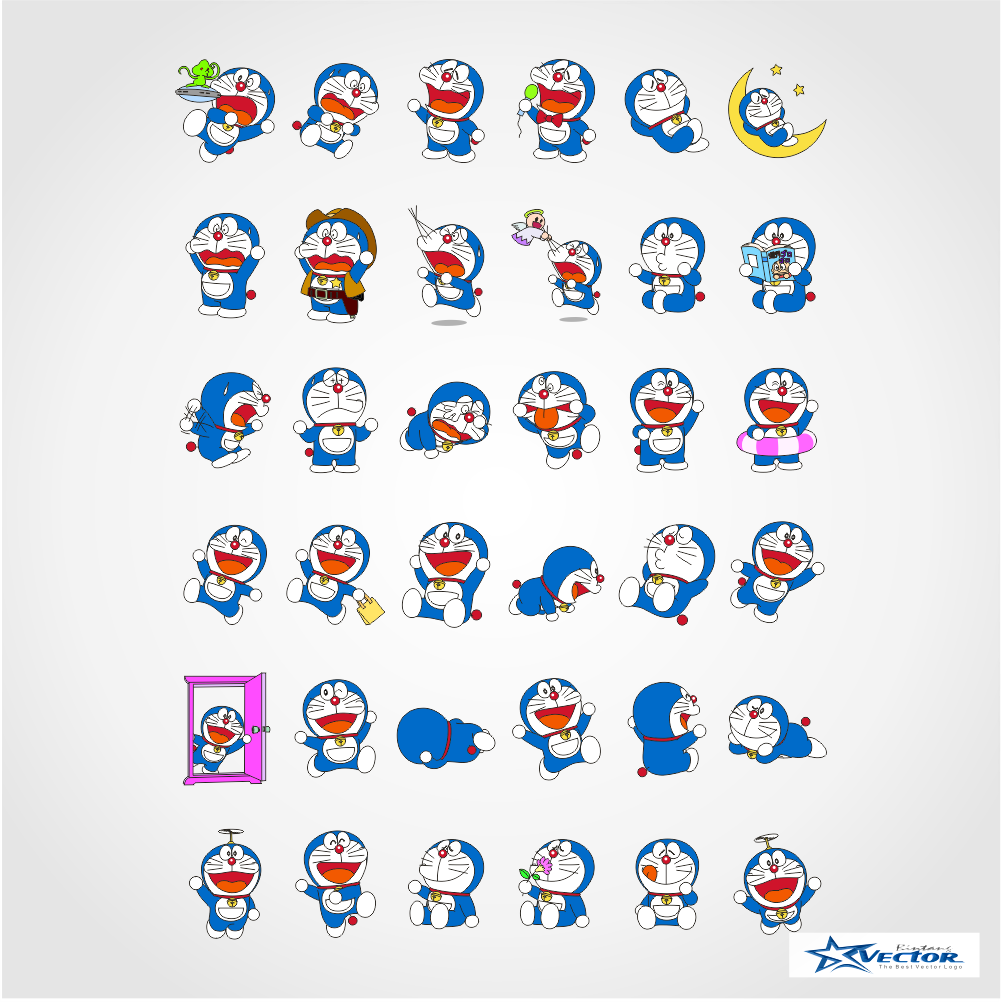 Doraemon Logo Vector Cdr Part1 Free Download