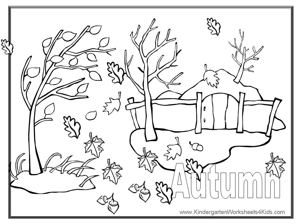 Autumn Coloring Pictures
