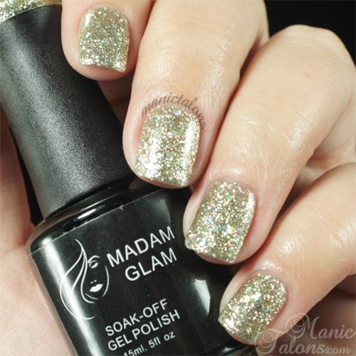 Madam Glam Gel Polish 117 Stardust Swatch