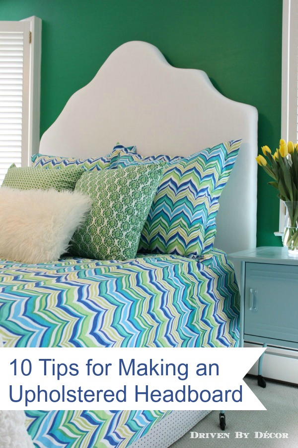 How To Make A Simple Upholstered Headboard Driven By Decor