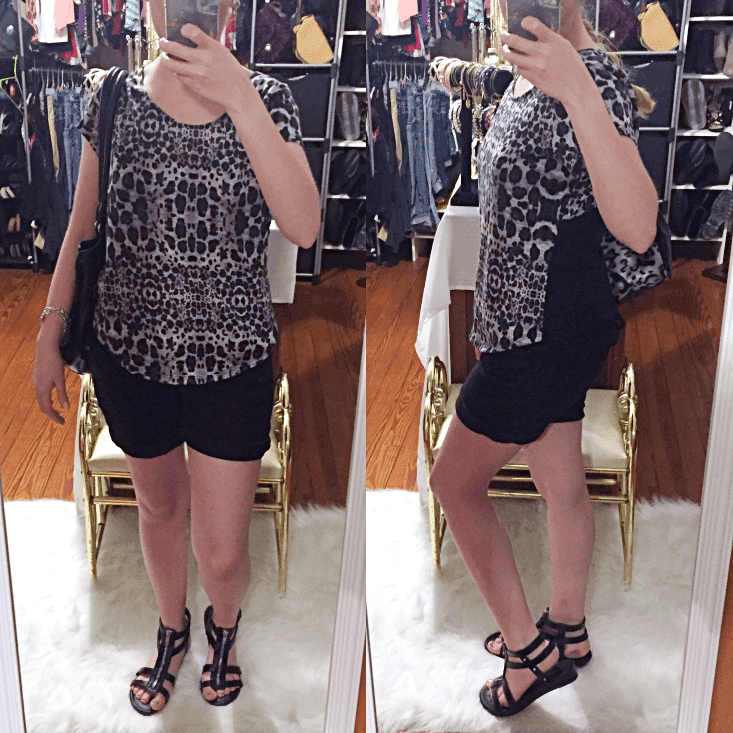 lace back cheetah top outfit of the day summer 2018
