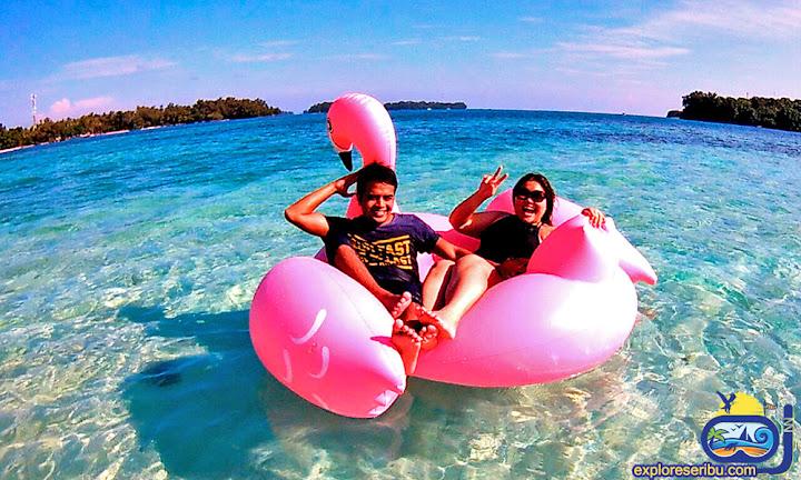 wisata honeymoon di pulau dolphin - pulau kelapa