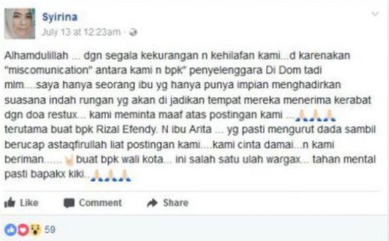 Viral Postingan Facebook Ibu Calon Pengantin Protes gara-gara Jokowi Datang