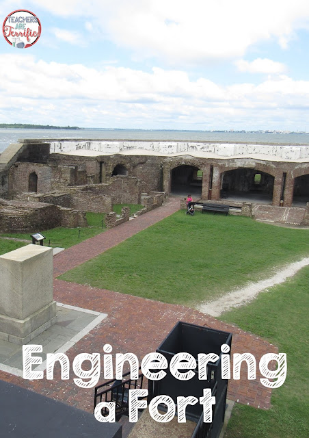 This is Fort Sumter and a lot of it is still standing. Probably due to the way it was engineered and built. See the arches. Engineers know that an arch supports itself with downward compression and will remain standing long after other things have crashed. Check this blog post for more feats of engineering!