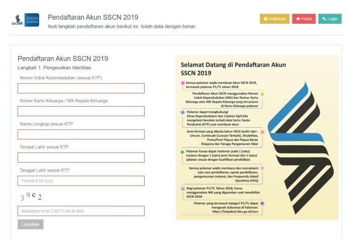 gambar cara pendaftaran akun sscn 2019
