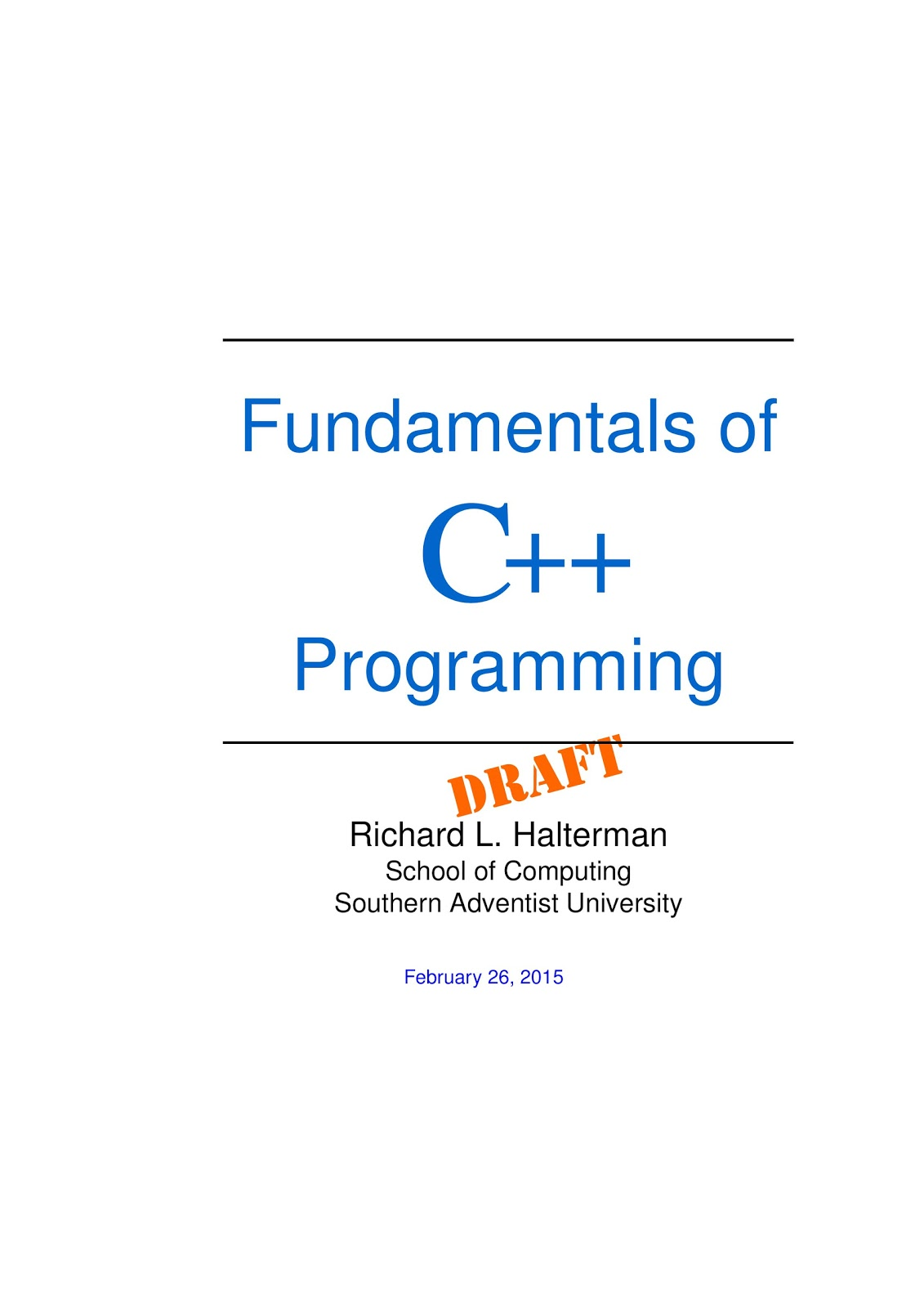 High definition ebooks fundamentals of programming c by richard l ebook size 74 mb fandeluxe Gallery
