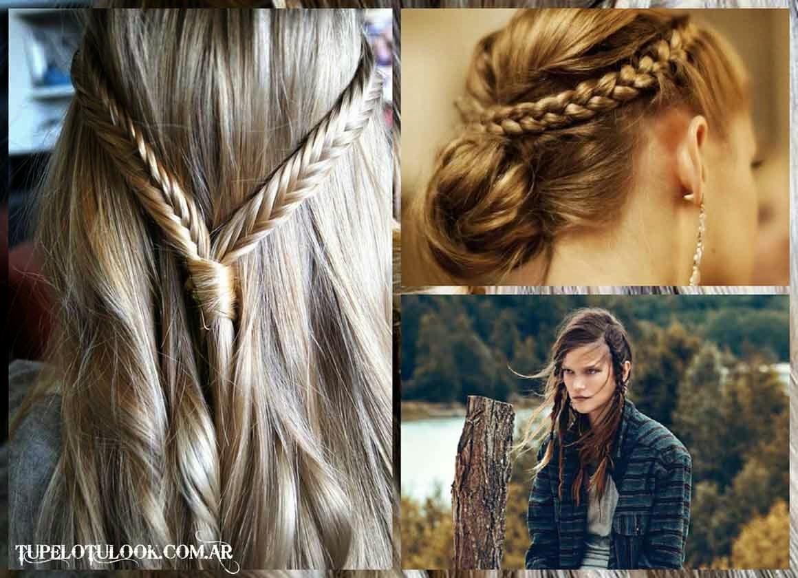 Peinados Trenzas Pelo Suelto Paso A Paso Elainacortez - Peinados-con-trenzas-y-pelo-suelto