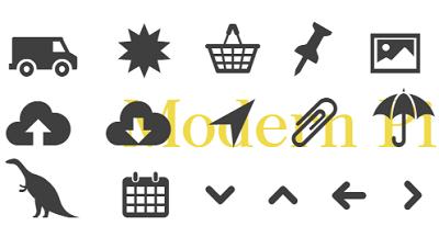 Daftar Situs Penyedia Font Icon Gratis - Modern Pictogram