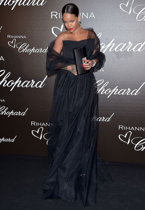 Rihanna Dazzles In Tulle Gown At Cannes Chopard Dinner For ...