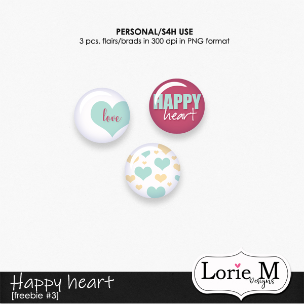 Happy Heart Bundle + FWP, CU Templates #67, Store Sale + Freebie