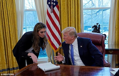Hope Hicks admit telling 'white lies' for Donald Trump during her testimony to the House Intelligence...