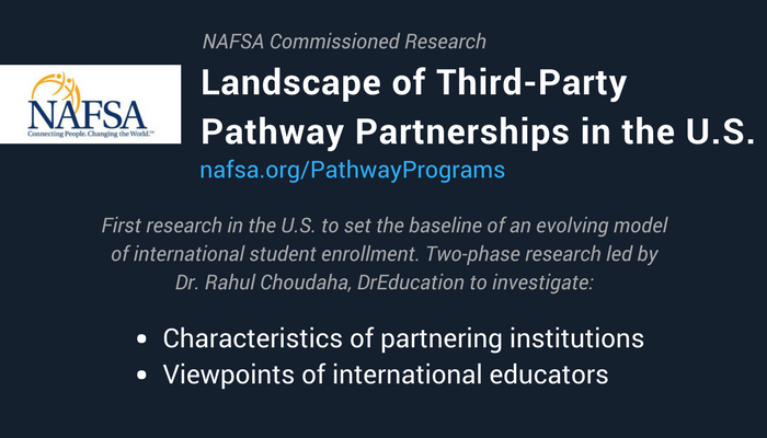 NAFSA research on third-party partnerships for international student enrollment by DrEducation