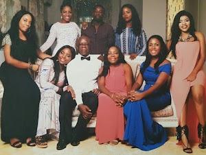 Beautiful new photo of Linda Ikeji and her family
