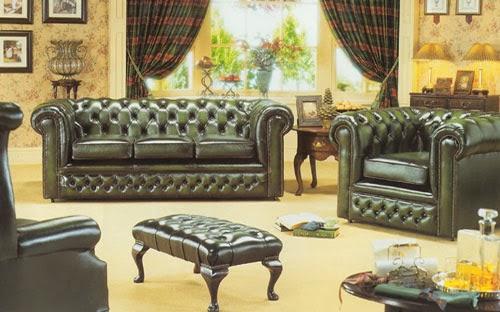 sofá estilo inglés