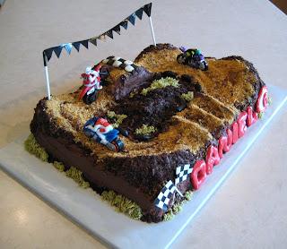 Motocross Birthday Cake Decorations
