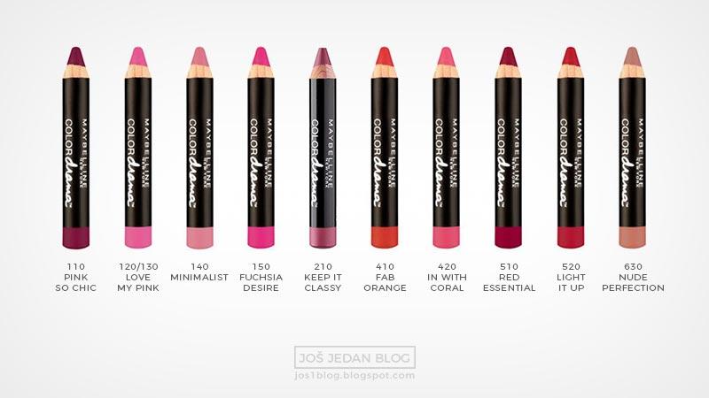 Recenzija Maybelline Color Drama olovke za usne, sve nijanse