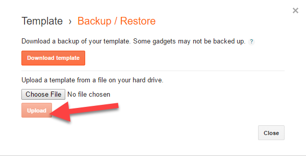 How to Backup or Change Your Blogger Template and Restore It ...