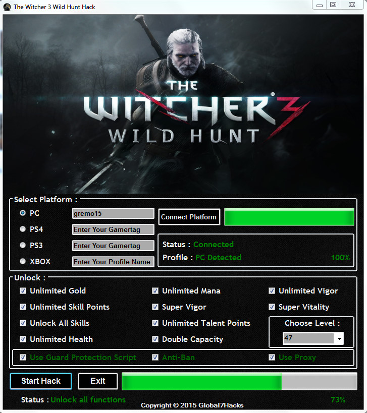 The Witcher 3 Wild Hunt Hack - Unlimited Gold, Skill Points