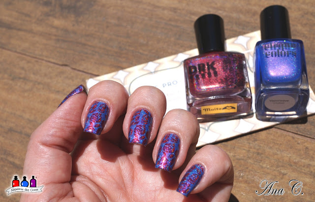 Cirque Colors, vaporwave, holográfico, Moyou London, PRO-XL 10, drk nails, muito amor, drk muito amor