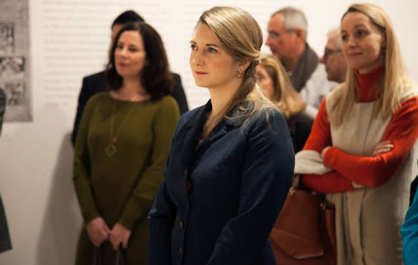 "Stephanie, Hereditary Grand Duchess of Luxembourg visited the exhibition of the ""Picasso.Mania"" at the Grand Palais"